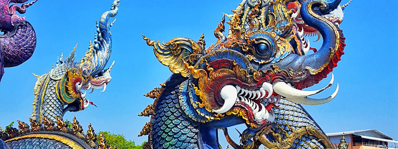 Blue Temple ( Wat Rong Suea Ten ) – Chiang Rai [Thailandia]