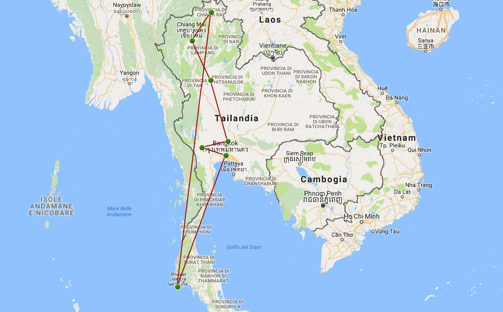 itinerario viaggio thailandia
