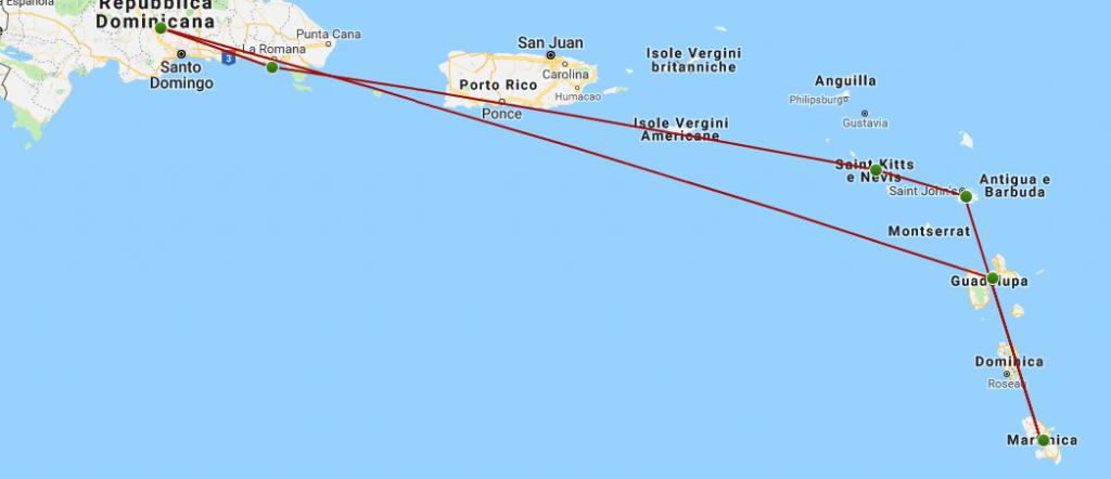 itinerario crociera caraibi