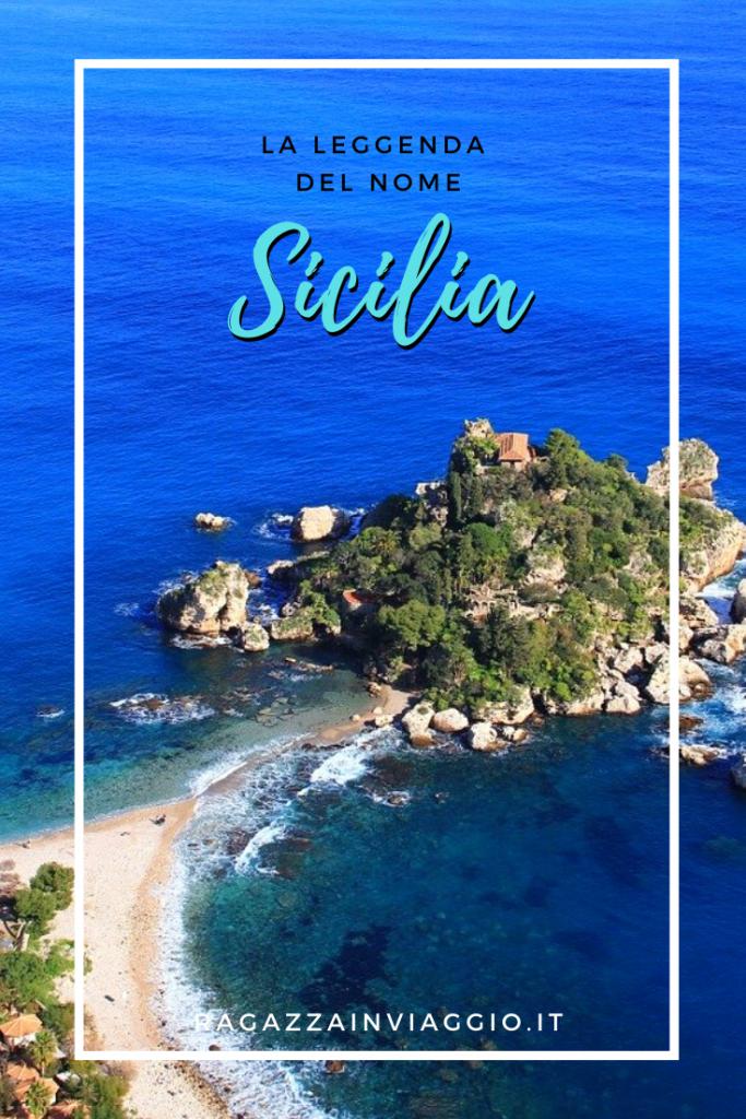 la leggenda del nome sicilia
